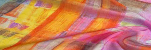 Картина предпосылки текстуры Silk тонкая ткань, абстрактная картина o Стоковые Фотографии RF