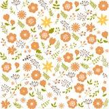 картина предпосылки флористическая безшовная Текстура дизайна весны декоративная Стоковая Фотография RF