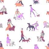 Картина предпринимателей собаки безшовная иллюстрация вектора