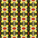 Картина предпосылки вектора безшовная Зеленые, желтые и красные цвета Стоковое Изображение
