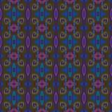 Картина предпосылки вектора безшовная Цвета сини, военно-морского флота, фиолетовых и прованских зеленые Стоковое Фото