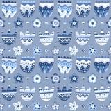 картина предпосылки голубая флористическая безшовная Стоковая Фотография RF