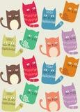 Картина предпосылки кота безшовная Стоковые Фото