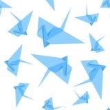 Картина предпосылки крана бумаги Origami вектор Стоковое Изображение