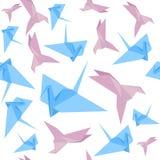 Картина предпосылки крана бумаги Origami вектор Стоковое Изображение RF