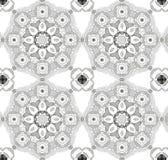 Картина предпосылки мандалы безшовная Винтажный круглый орнамент Стоковые Фото