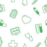 Картина предпосылки медицинских значков безшовная Стоковая Фотография RF