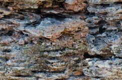 Картина предпосылки скалы моря стоковые изображения
