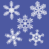 Картина предпосылки снежинки Стоковые Изображения RF