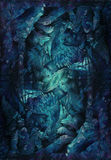 Картина предпосылки с карликами и fairy изначальными поводами Стоковые Фотографии RF