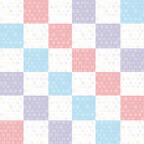 Картина предпосылки точки польки безшовная с розовым квадратом сини сирени вектор Стоковые Изображения