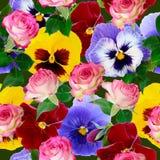 картина предпосылки флористическая безшовная Стоковые Изображения RF