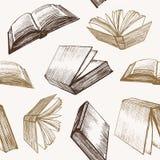 Картина предпосылки эскиза притяжки руки книги вектор Стоковые Изображения RF