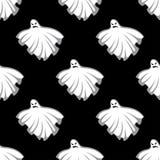 Картина призраков хеллоуина летания безшовная Стоковые Изображения RF
