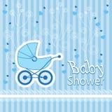 Картина принесенная младенцем на голубой предпосылке Стоковая Фотография