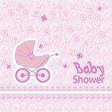 Картина принесенная младенцем на розовой предпосылке Стоковое Фото