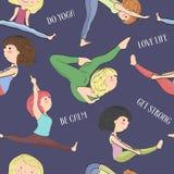 Картина при девушки делая йогу Стоковая Фотография RF
