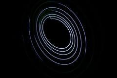 Картина при свет приходя от диода Спиральная притяжка плана Стоковое фото RF
