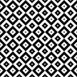 Картина проверенная постоянным посетителем безшовная черно-белая Стоковые Фото