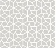 Картина простого геометрического вектора конспекта безшовная с белой линией текстурой на серой предпосылке Светлый - серое соврем иллюстрация штока