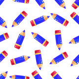 Картина простого маленького карандаша шаржа безшовная Стоковое Изображение