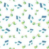 Картина простого примечания музыки безшовная Стоковое фото RF