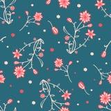 Картина простых и красоты цветка безшовная вектор Стоковые Фотографии RF