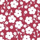 Картина простых и красоты цветка безшовная вектор Стоковые Изображения