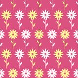 Картина простых и красоты цветка безшовная Vector иллюстрация хорошая для ткани или бумажной оборачивая печати Смогите быть скопи Стоковые Изображения