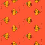 Картина простых цветков акварели безшовная Стоковое Изображение