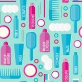 Картина продуктов красоты вектора безшовная Стоковое Изображение RF