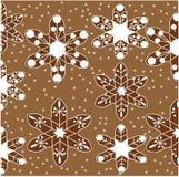 Картина пряника как снежинки Стоковая Фотография