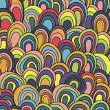 Картина психоделических волн безшовная Стоковое Изображение RF