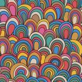 Картина психоделических волн безшовная Стоковое фото RF