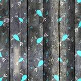 Картина птицы безшовная, предпосылка весны с птицами петь Стоковые Изображения