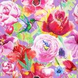 Картина птицы и цветков Стоковая Фотография RF