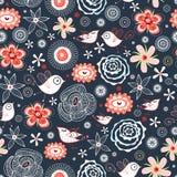 картина птиц флористическая иллюстрация вектора