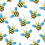 Картина пчелы безшовная Стоковое фото RF