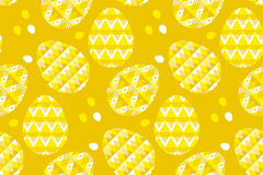 Картина племенного украшения пасхального яйца концепции геометрии безшовная Стоковые Фото