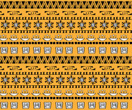 Картина племенного boho искусства безшовная Этническая геометрическая печать Стоковые Фотографии RF