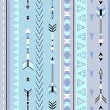 Картина племенного boho стрелок безшовная Этническая геометрическая печать иллюстрация вектора