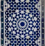 Картина плитки Zellige марокканца Стоковые Фотографии RF