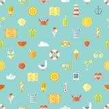 Картина плоского дизайна каникул перемещения безшовная Стоковая Фотография RF