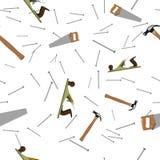 Картина плотников безшовная Стоковое Изображение