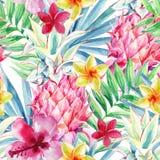 Картина плодоовощ ананаса акварели безшовная бесплатная иллюстрация