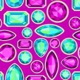 Картина драгоценной камня безшовная Стоковое Изображение RF