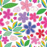 Картина радуги лист цветка кролика безшовная