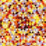 Картина радуги треугольника, влияние листает, зашкурит, в красных, оранжевых, голубых, желтых, коричневых, солнечных цветах лета Стоковые Фото