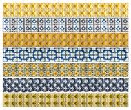 Картина 7 различных желтых и голубых плиток сброса Стоковая Фотография