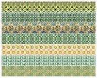 Картина 7 различных зеленых плиток Стоковое Фото